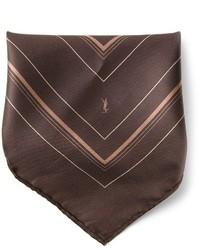 Темно-коричневый нагрудный платок от Saint Laurent