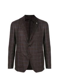 Мужской темно-коричневый пиджак в клетку от Tagliatore