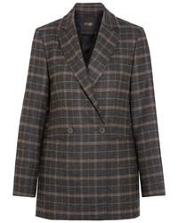 Темно-коричневый пиджак в шотландскую клетку
