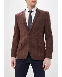 Мужской темно-коричневый пиджак в шотландскую клетку от Bazioni