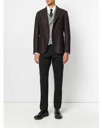 Мужской темно-коричневый пиджак в шотландскую клетку от Eleventy