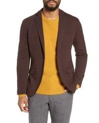 """Темно-коричневый пиджак с узором """"в ёлочку"""""""