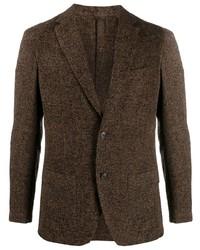Мужской темно-коричневый пиджак от Altea