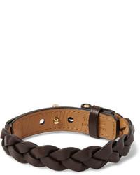 Темно-коричневый плетеный браслет