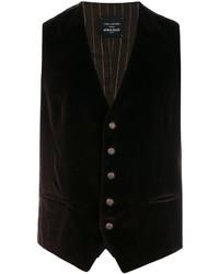 Темно-коричневый хлопковый жилет от Tagliatore