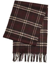 Темно-коричневый шарф в клетку