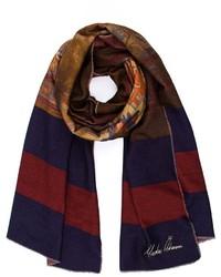 Мужской темно-коричневый шарф с принтом от Undercover