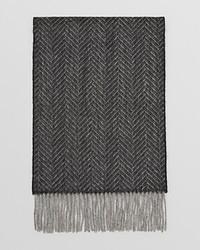 """Темно-коричневый шарф с узором """"в ёлочку"""""""