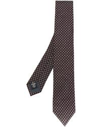 Мужской темно-коричневый шелковый галстук от Ermenegildo Zegna