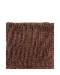Темно-коричневый шелковый нагрудный платок