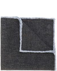Темно-коричневый шерстяной нагрудный платок в клетку от Eleventy