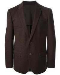 Темно-коричневый шерстяной пиджак