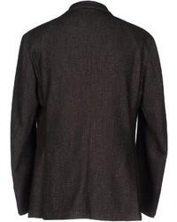 Мужской темно-коричневый шерстяной пиджак