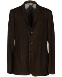 Мужской темно-коричневый шерстяной пиджак от Burberry