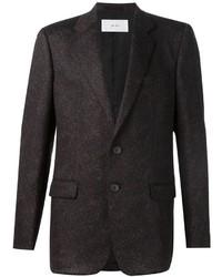 Мужской темно-коричневый шерстяной пиджак от Julien David
