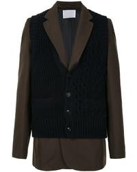 Мужской темно-коричневый шерстяной пиджак от Kolor