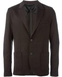 Мужской темно-коричневый шерстяной пиджак от Lanvin