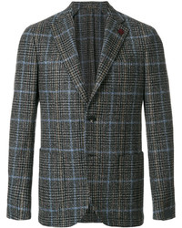 Мужской темно-коричневый шерстяной пиджак от Lardini