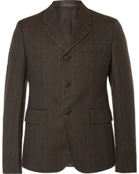Мужской темно-коричневый шерстяной пиджак от Prada