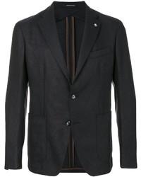 Мужской темно-коричневый шерстяной пиджак от Tagliatore