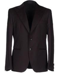 Мужской темно-коричневый шерстяной пиджак от Tonello