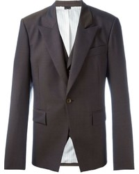 Мужской темно-коричневый шерстяной пиджак от Vivienne Westwood