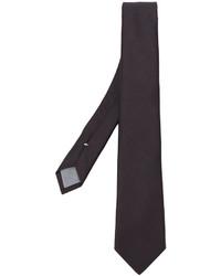 Мужской темно-коричневый шерстяной плетеный галстук от Eleventy