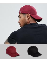Мужская темно-красная бейсболка от ASOS DESIGN