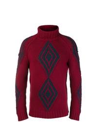 Мужская темно-красная водолазка с принтом от Etro
