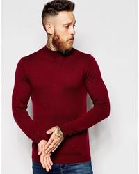 Мужская темно-красная водолазка от Asos
