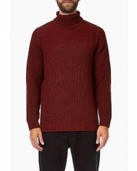 Мужская темно-красная водолазка от Burton Menswear London