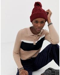 Женская темно-красная вязаная шапка от ASOS DESIGN