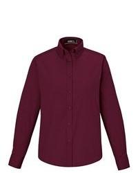 Темно-красная классическая рубашка