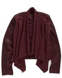 Темно-красная кожаная куртка