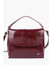 Темно-красная кожаная сумка-саквояж от Esse
