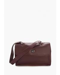 Темно-красная кожаная сумка-саквояж от Jane's Story