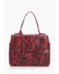Темно-красная кожаная сумка-саквояж от Pola