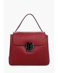 Темно-красная кожаная сумка-саквояж от Roberto Buono