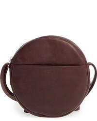 Темно-красная кожаная сумка через плечо
