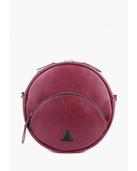 Темно-красная кожаная сумка через плечо от Arny Praht