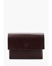 Темно-красная кожаная сумка через плечо от Divalli