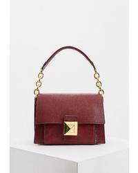 Темно-красная кожаная сумка через плечо от Furla