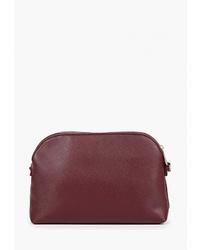 Темно-красная кожаная сумка через плечо от Modis