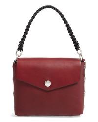 Темно-красная кожаная сумочка