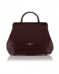 Женская темно-красная кожаная сумочка