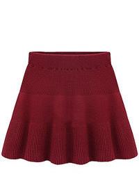 темно красная короткая юбка солнце original 1481991