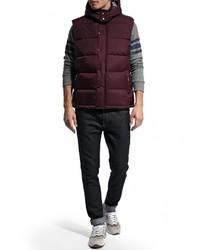 Мужская темно-красная куртка без рукавов от Brave Soul