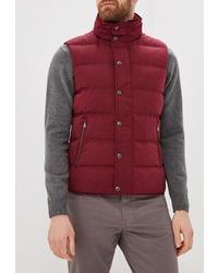 Мужская темно-красная куртка без рукавов от Hackett London