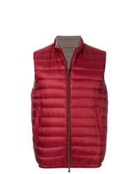Мужская темно-красная куртка без рукавов от Herno