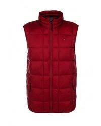 Мужская темно-красная куртка без рукавов от Tommy Hilfiger Denim
